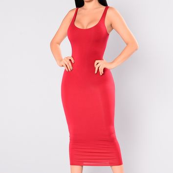 Your Needs Met Dress - Red