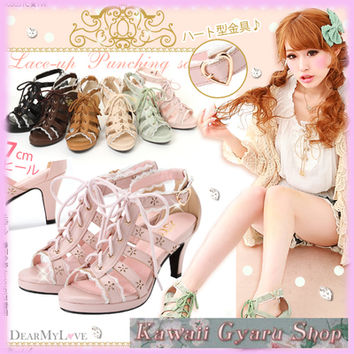 DreamV (Yumetenbo) Hime Princess Lace-Up Sandals (NwT) from Kawaii Gyaru Shop