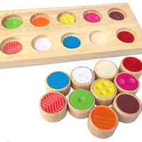 Baby Toys Wooden Blocks Shape Jointed Board Memory Touch Flip Board Wooden Blocks Colorful Toys Kids Learning Educational Toy