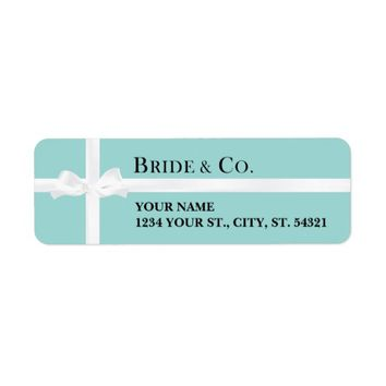 Tiffany's Inspired Address Labels
