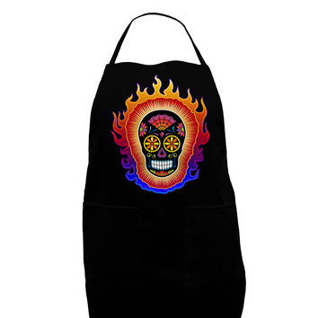 Sacred Calavera Day of the Dead Sugar Skull Dark Adult Apron