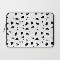 Black and White triangles Laptop Sleeve by Haroulita | Society6