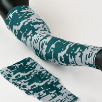 Pixel Green and Gray arm sleeve