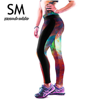 Yoga Pants Activewear For Women GYM Sports Trousers Starry Print Fitness Slim Tights Outdoor Running Leggings Quick-dry Pant 059