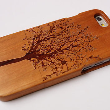 Tree life Natural wood iphone 6 6 plus iphoen 5 5s  samsung galaxy case wood case Engraved wooden samsung case