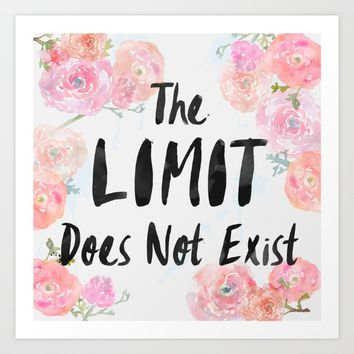 The Limit Does Not Exist Art Print by AllieR