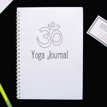 Yoga Journal OM Hamsa Notebook A5 Simple Diary Planner Sketchbook Gift Gift for friends co-workers