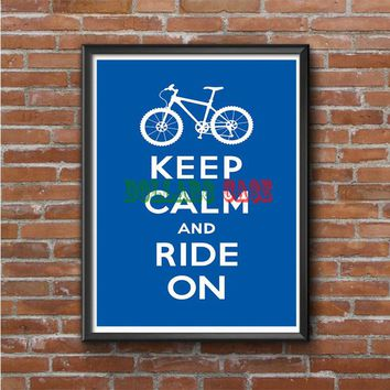 Keep Calm (ride on) Photo Poster