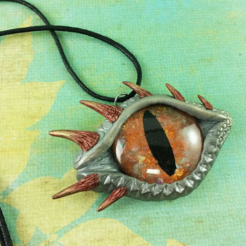 Dragon Eye Pendant, Large Dragon Eye Necklace, Dragon Eye Jewelry, Dragon Eye Charm, Fantasy Jewelry, Magical Necklace