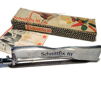 Vintage Knife . Schnittfix III  . Adjustable Rapid Slicer . Bread Knife .