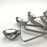 Vintage Inox Escargot Tongs, Set of 6, Made in France, Appetizer Tongs, circa 1970s