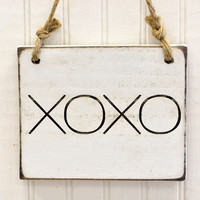 Rustic Wooden Sign - XOXO