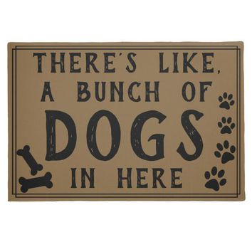 Autumn Fall welcome door mat doormat Funny Dogs Puppy Paw Welcome Mats Novelty A Bunch of Dogs In Here  Entrance for Front Door Creative Pet Lover Home Decor AT_76_7