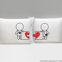 Made for Each Other™ Lesbian Couple Pillowcases-Gifts for Lesbians,Valentines Gifts for Lesbian Couples,Lesbian Wedding Gifts