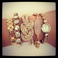 Arm party  Am candy  Chunky Chain Bracelet set  24k by Brinkle