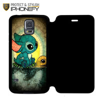Disney Stitch And Turtle Samsung Galaxy S5 Flip Case|iPhonefy