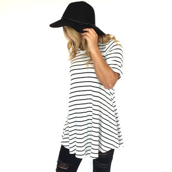 Rival Stripe & Ribbed Shift Dress & Tunic