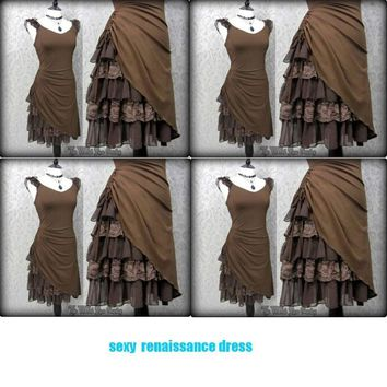 Women' Renaissance  Lace Patchwork Medieval Dress - Free Shipping