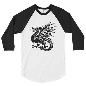 Mythical Monster Beast Men's 3/4 sleeve raglan shirt