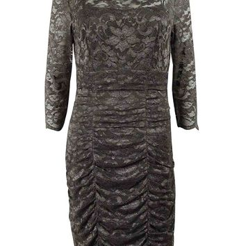 Eliza J Women's Lace Shirred Dress