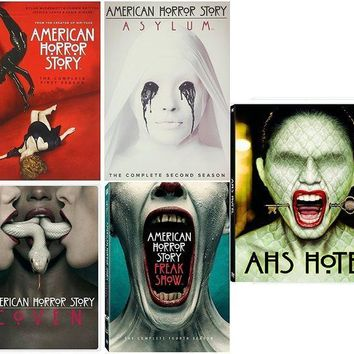 ESBONG6 American Horror Story : Complete Collection, DVD (Series Seasons 1-5, 1,2,3,4,5 Bundle) USA Format Region 1