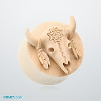 Wild Buffalo Organic Crocodile Wood Ear Gauge Plug