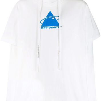 White Sweat T-Shirt Hoodie by OFF-WHITE