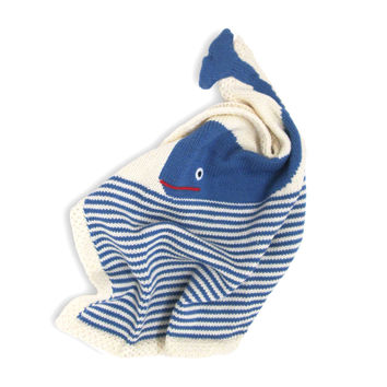 Organic Whale Lovey or Baby Toy Security Blanket