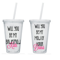 Will You Be My Bridesmaid Tumbler, Will You Be My Bridesmaid Gift, Will You Be My Maid Of Honor Gift