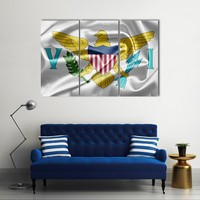 Virgin Islands Of The United States Flag Multi Panel Canvas Wall Art