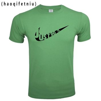 Skateboard Skater t-Shirt men t shirt Funny Tee Cute T shirts Homme JUST DO IT Man 100% Cotton Cool Tshirt  Summer Jersey Costume T-shirt Tops AT_45_3