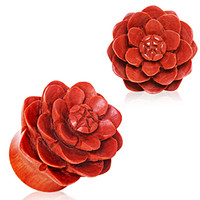 Organic Sawo Wood Lotus Blossom Saddle Plug