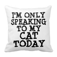 Funny Cat Pillows, Quotes