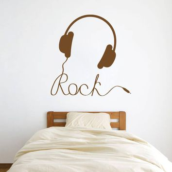 ik810 Wall Decal Sticker headphones bass music artist rock band star teens