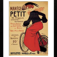 Vintage French Bicycle Ad Print