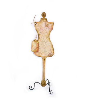 Decorative Vintage Dress Form Free Standing by kellbellestudio