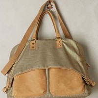 Shimmered Seaport Weekender by Jesslyn Blake Beige One Size Bags