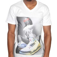 Tru Designz Men'S Chicks 'N' Kicks This Is Living Jordan Retro 3's Graphic T-Shirt Swag Dope Obey