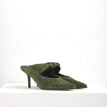 Suede Pointed Heeled Shoes