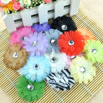 Bow Headbands Fashion Hair Clips Girl Baby Centered Sequin Daisy Flower 3967 Necklace = 1745561604