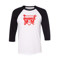Baseball Mom Raglan Shirt, Baseball Shirt