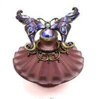 Well Jeweled Butterfly Perfume Bottle