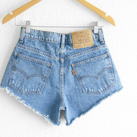 Levis High Waisted Shorts size 0 Shorts Vintage Levi High Waisted Jean Shorts High Waist Shorts Denim Cutoffs xs waist 26