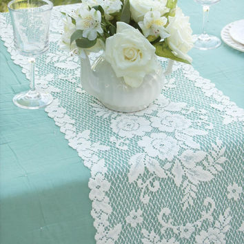 Heritage Lace Victorian Rose 13 x 54 Lace Table Runner