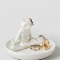 Yoga Cat Ring Dish