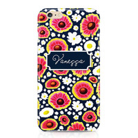 Pretty Flower Pattern Phone Case, Personalized Phone Case, Custom Phone Case, Floral Phone Case, Daisies Phone Case, iPhone, Samsung Galaxy