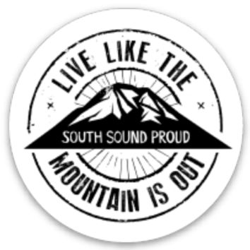 Live Like the Mountain is Out Sticker