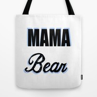 Mama Bear to Baby Boy Tote Bag by Love Lunch Liftoff