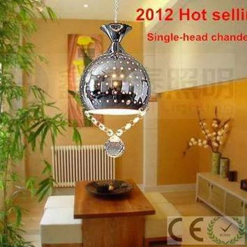 Modern Single-head chandeliers crystal pendant surface mounted ceiling lamp e27 base pendant lamps