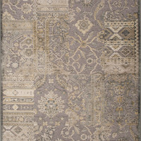 Jaipur Rugs Transitional Oriental Pattern Gray Rayon and Chenille Area Rug HAR04 (Rectangle)